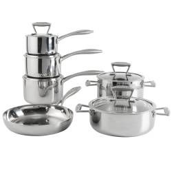 ProCook Elite Tri-ply Cookware Set - Uncoated 6 Piece