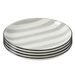 ProCook Salcombe Stoneware - 19cm Side Plate - Set of 4