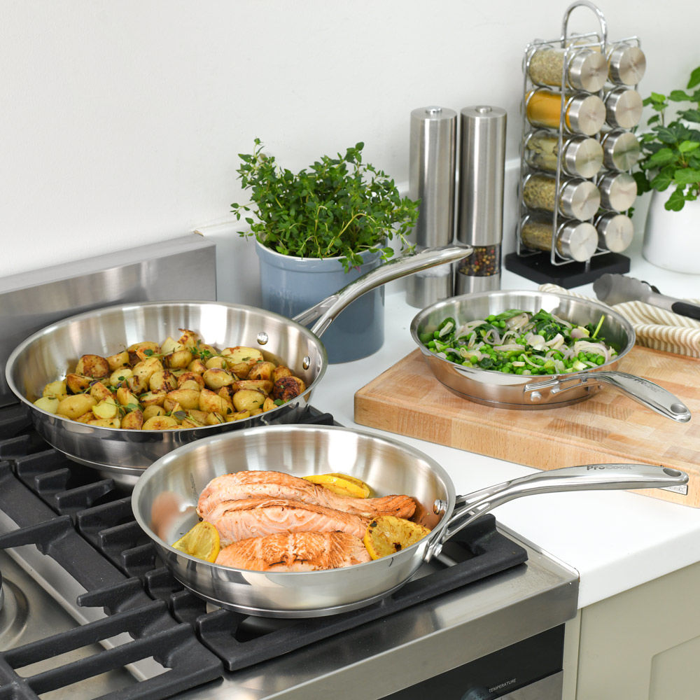 Professional Stainless Steel Frying Pan Set