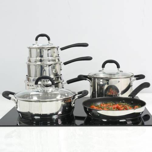 Gourmet Stainless Steel Cookware Set 6 Piece