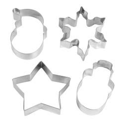 ProCook Christmas Cookie Cutter Set - 4 Piece