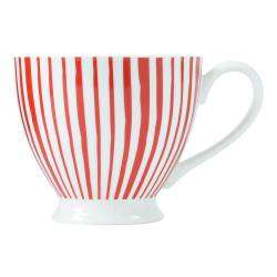 ProCook Footed Mug - Red Stripes