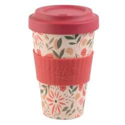 Life's a Beach Bamboo Coffee Cup - Flowers