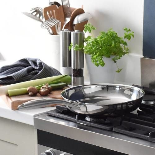 Elite Tri-Ply Frying Pan Uncoated 26cm