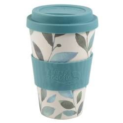 Life's a Beach Bamboo Coffee Cup - Leaves