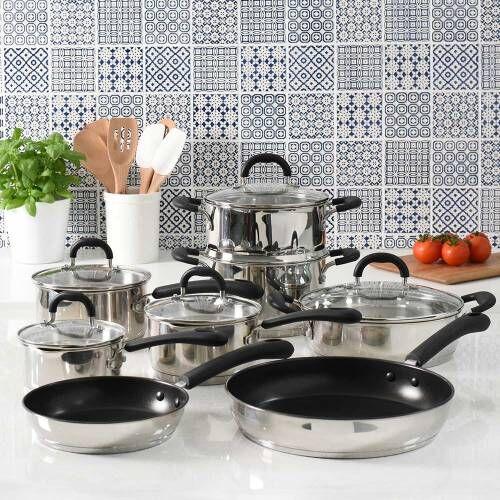 Gourmet Stainless Steel Cookware Set 8 Piece