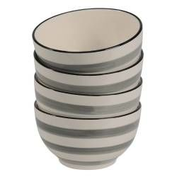 Coastal Stoneware Grey Cereal Bowl - Set of 4 - 14cm