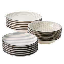 ProCook Salcombe Stoneware Dinner Set - 18 Piece  - 6 Settings