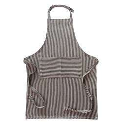 ProCook Apron - Black and Biscuit Stripe
