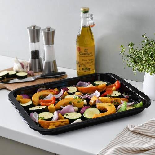 ProCook Enamel Baking Tray 41cm x 32cm x 2.5cm