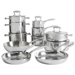 ProCook Elite Tri-ply Cookware Set - 12 Piece