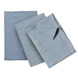 ProCook Tea Towel 3 Piece Set - Blue and Biscuit
