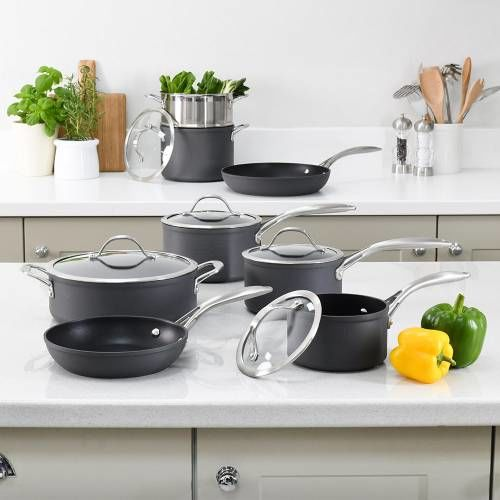 Professional Anodised Cookware Set 8 Piece