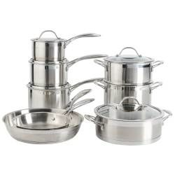 Professional Stainless Steel Cookware Set - Uncoated 8 Piece