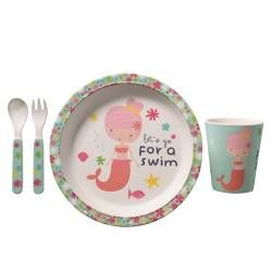 Life's a Beach Childrens Eco Bamboo Set - Mermaids
