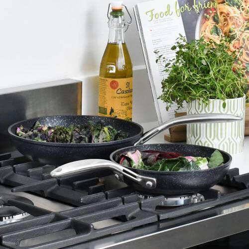 Professional Granite Frying Pan Set 20 and 24cm