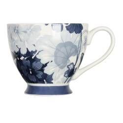 ProCook Footed Mug - Blue Geraniums
