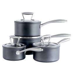 ProCook Elite Forged Saucepan Set - 4 Piece with Free Utensils