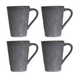 Malmo Charcoal Mug - Set of 4 - 420ml