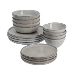 Oslo Rim Stoneware Dinner Set - 16 Piece - 4 Settings
