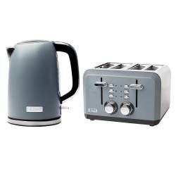 Haden Perth Kettle & 4 Slice Toaster - Slate Grey