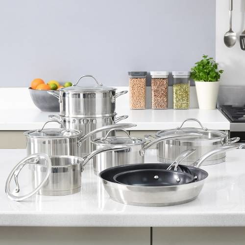 Professional Stainless Steel Cookware Set 8 Piece