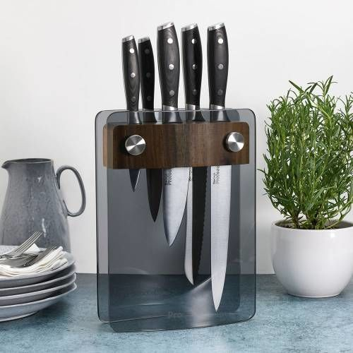 Professional X50 Knife Set 5 Piece and Glass Block