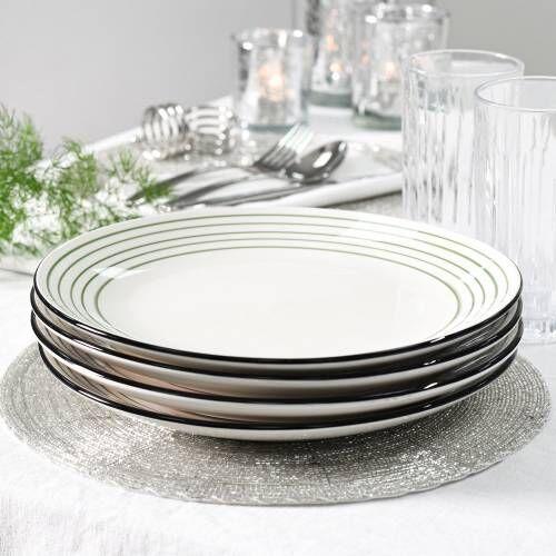 Coastal Stoneware Green Dinner Plate Set of 4 - 26.5cm