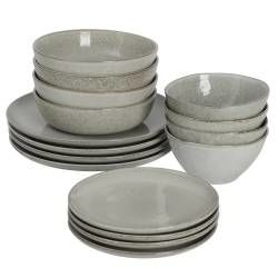 Oslo Coupe Stoneware Dinner Set - 16 Piece - 4 Settings