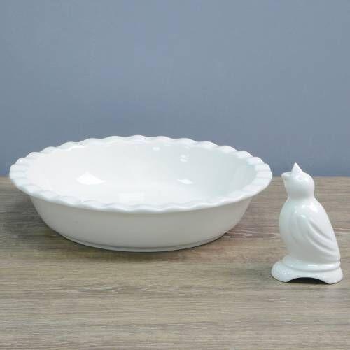 ProCook Porcelain Pie Dish & Pie Bird 2 Piece Set