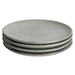 Oslo Coupe Stoneware Salad Plate - Set of 4 - 24cm