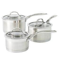 ProCook Professional Steel Saucepan Set - 3 Piece