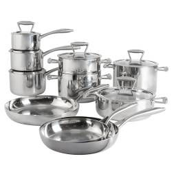 ProCook Elite Tri-ply Cookware Set - Uncoated 10 Piece