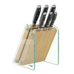 ProCook Professional X50 Knife Set - 6 Piece and Glass Block