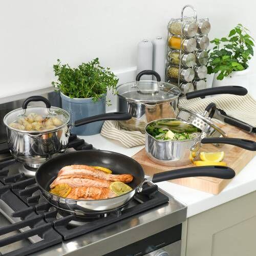 Gourmet Stainless Steel Cookware Set 4 Piece