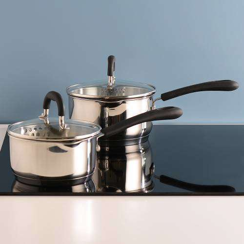 Gourmet Stainless Steel Saucepan Set 2 Piece