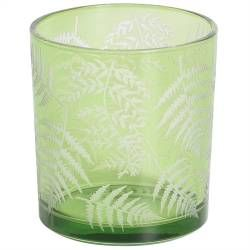 ProCook Green Fern Design Candle Holder - Small