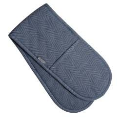 ProCook Double Oven Glove - Blue Grey Herringbone