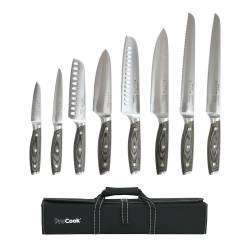 ProCook Elite Ice X50 Knife Set - 8 Piece and Knife Case