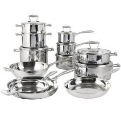 Elite Tri-ply Cookware Set - Uncoated 12 Piece