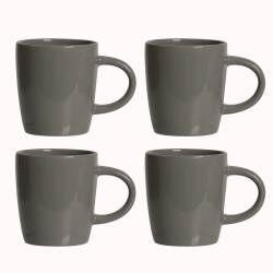 Stockholm Slate Stoneware Mug - Set of 4 - 340ml