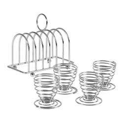 ProCook Toast Rack & 4 Egg Cups - 5 Piece Set