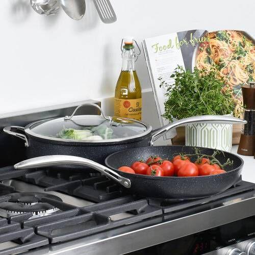 Professional Granite Saute and Frying Pan Set 2 Piece