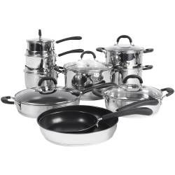 Gourmet Stainless Steel Cookware Set - 10 Piece