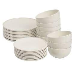 ProCook Stockholm Ivory Stoneware Dinner Set - 24 Piece - 8 Settings