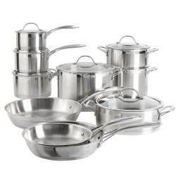 ProCook Professional Steel Cookware Set - Uncoated 10 Piece