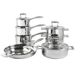 Elite Tri-ply Cookware Set - Uncoated 8 Piece