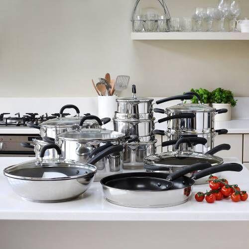 Gourmet Stainless Steel Cookware Set 12 Piece