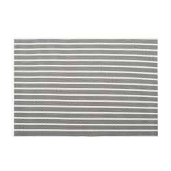 ProCook Rectangular Placemats - Set of 4 - Grey Stripe