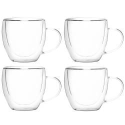 ProCook Double Walled Glass Cup Set of 4 - 250ml
